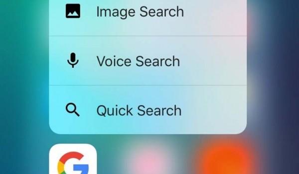 Приложение Google обзавелось поддержкой 3D Touch