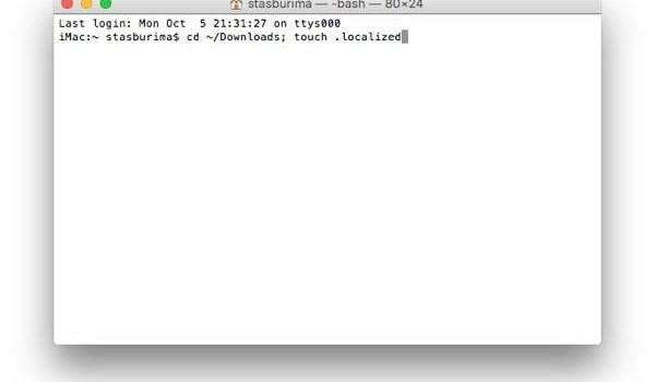 Если папка «Загрузки» в Finder стала называться «Downloads»